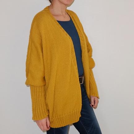Gilet jaune moutarde XXL_01