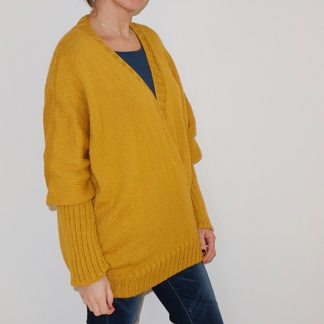 Gilet jaune moutarde XXL_02
