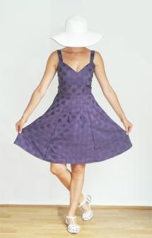 Robe violette_Plage1