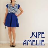 Jupe Amélie bleue Acceuil