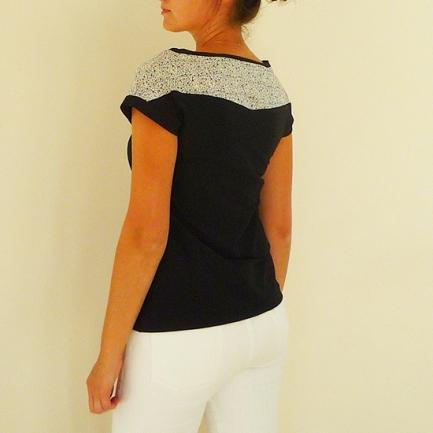 Tee-shirt liberty-noir dos 3Quart