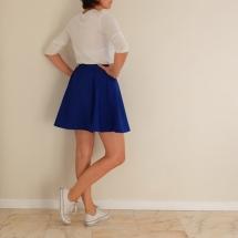 Jupe bleue dos