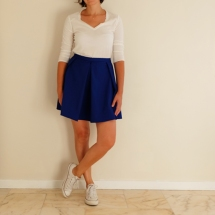 Jupe bleue face01