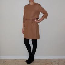Robe La Parisienne beige_Devant
