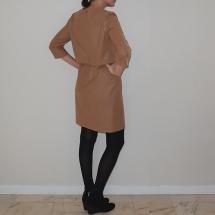 Robe La Parisienne beige_Dos