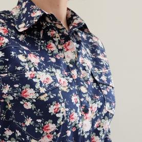 Poches chemise à Roses