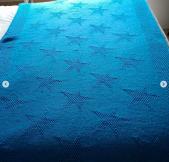 Couverture étoiles @sylvie2baz - Bout de lit